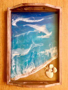 Beach Serving Tray with Shells
