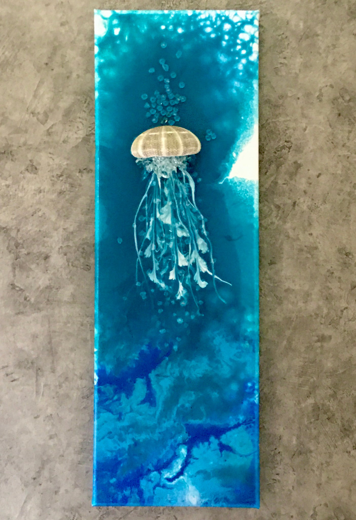 Acrylic Fluid Art Jelly Fish Beach Wall Decor