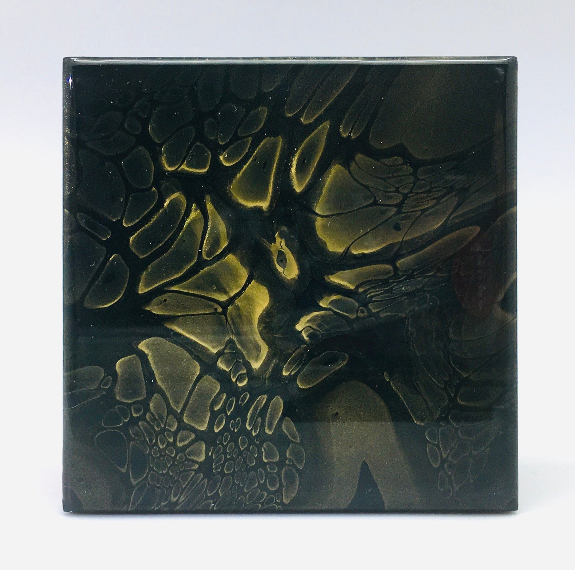 Ceramic Coaster Set Gold Burst