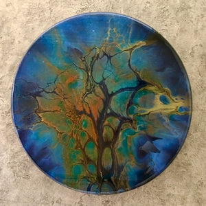 "12"" Round Acrylic ART Into The Unknown"