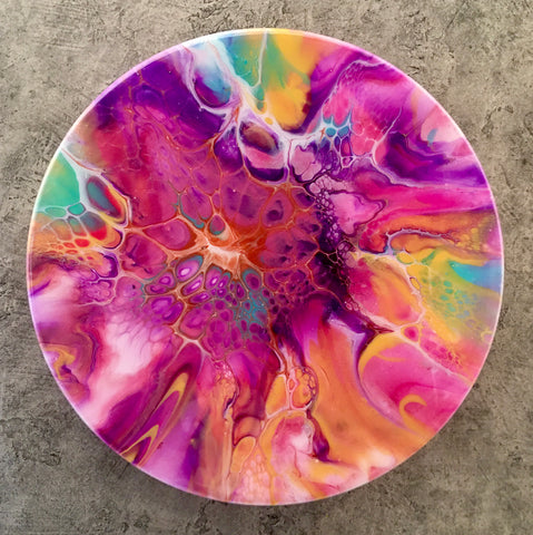 "12"" Round Acrylic ART Pastel Brilliance"