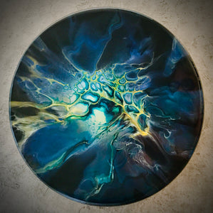 "12"" Round Acrylic ART Night Storm"