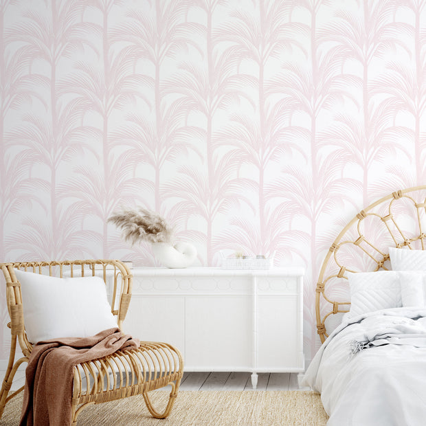 Palm Fans in Blush