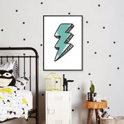 Lightning Bolt in Green