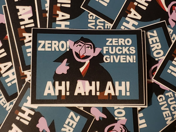 Count Zero Fucks Given Stickers