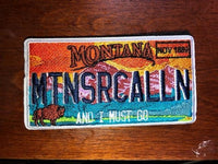 Montana, Florida, South Carolina, and Tennessee License Plate Patches