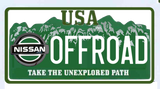 Nissan OFFROAD License Plate GITD Patch