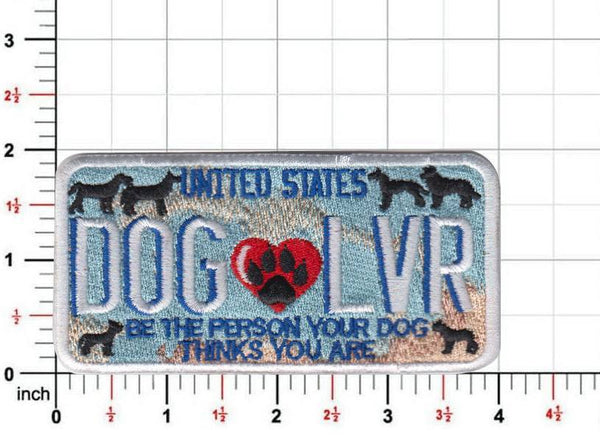 Dog Lover License Plate Patch