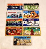 Mountains Are Calling License Plate Patches
