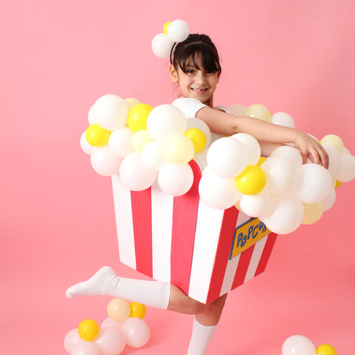 DIY Balloon Popcorn Kid's Costume