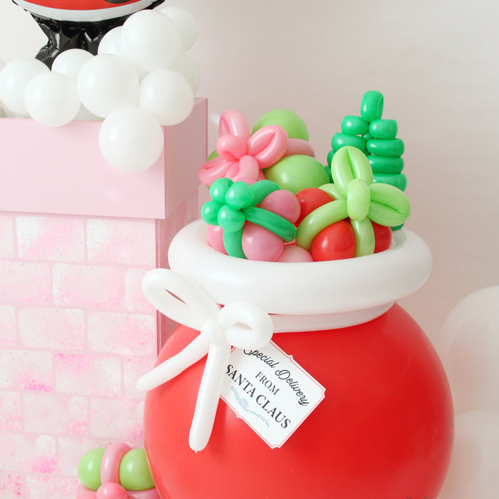 DIY Balloon Santa Bag