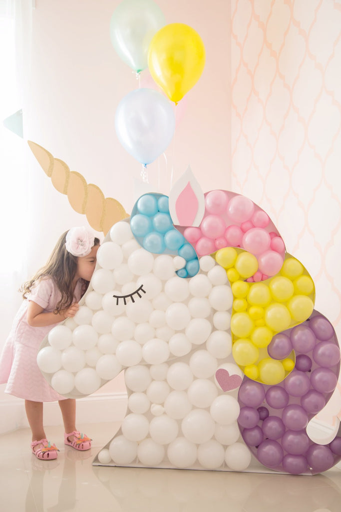 balloon mosaic unicorn