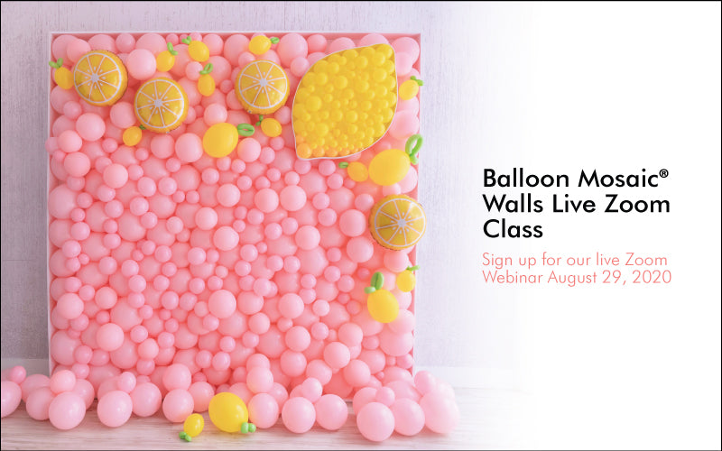 Balloon Mosaic Walls Live Zoom Class