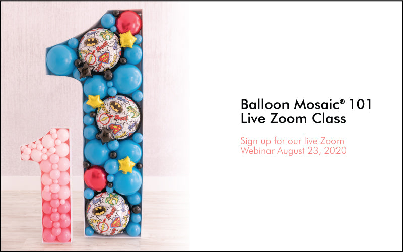 Balloon Mosaic 101 Class - Live on Zoom - Lilly Jimenez