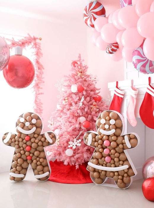 Mr. and Mrs. Gingerbread BALLOON MOSAIC™ digital design template