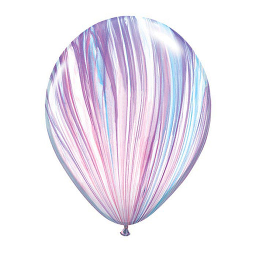 11 inch Marble Balloon - Purple and Pink