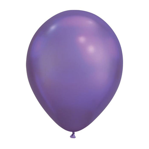 11 inch Chrome Purple Round Balloons