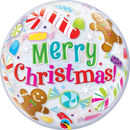 22 inch Merry Christmas Candies and Treats Bubble Balloon