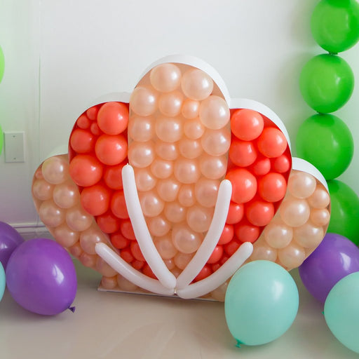 Seashell BALLOON MOSAIC digital design template