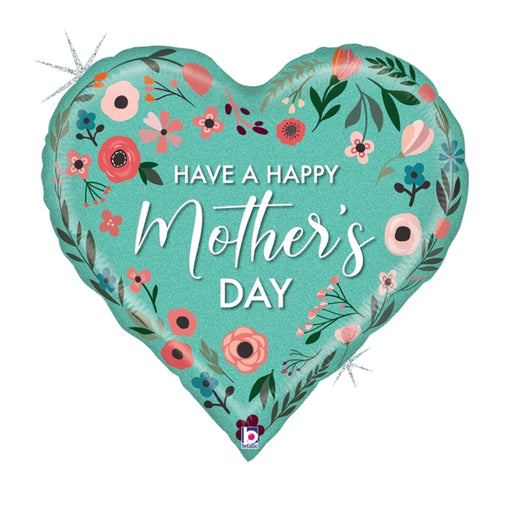 Have a Happy Mother's Day foil 30 inch mint color mother's day heart balloon
