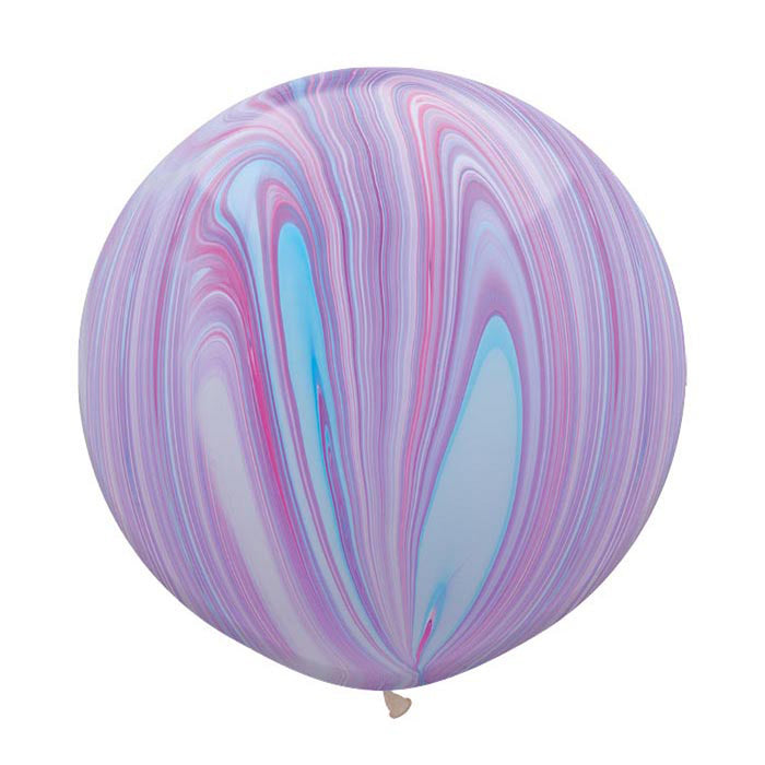30 inch Marble Balloon - Purple and Pink