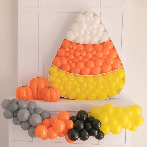 Candy Corn Balloon Mosaic For Halloween Party Balloon Decorations