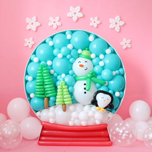 Snow Globe BALLOON MOSAIC digital design template