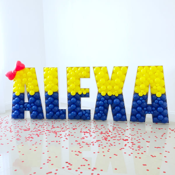 Letters Bundle BALLOON MOSAIC™ digital design template