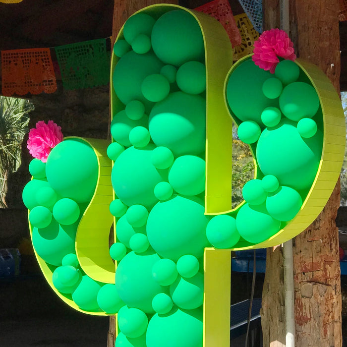 Cactus BALLOON MOSAIC digital design template