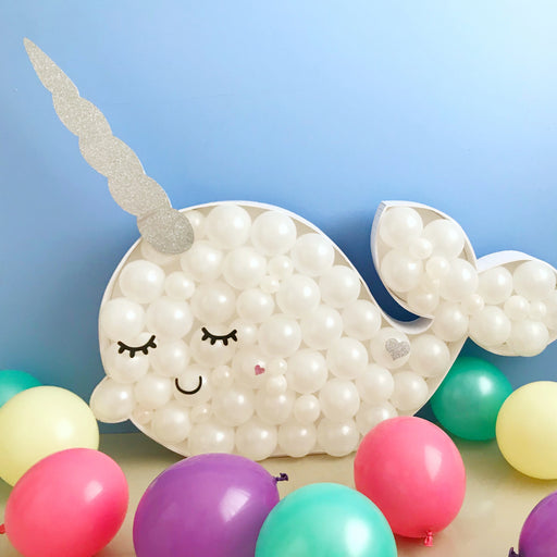 Narwhal BALLOON MOSAIC digital design template