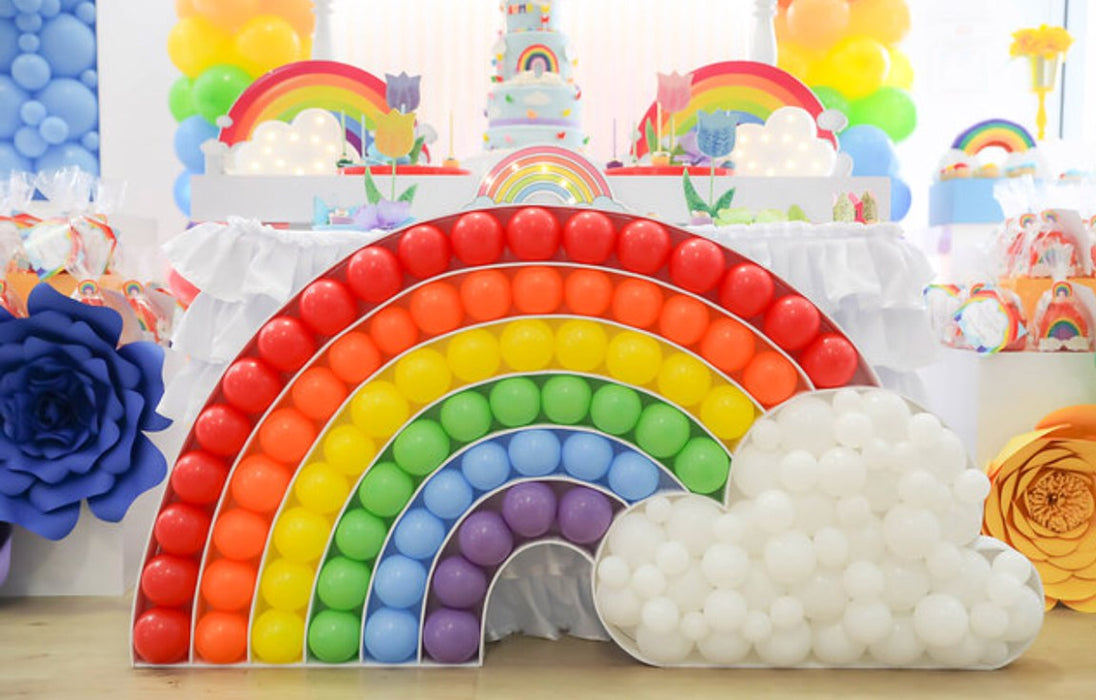 Rainbow BALLOON MOSAIC digital design template