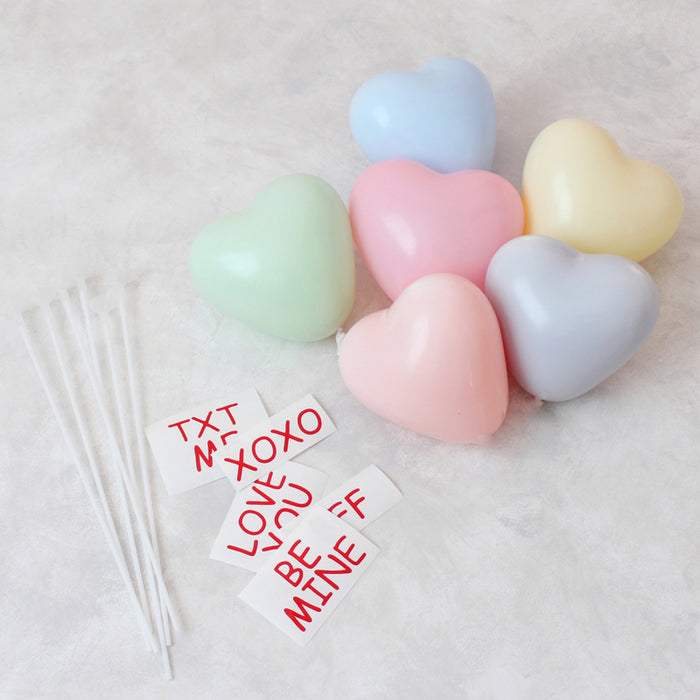 Conversation Heart Balloon Favor Kit - What is Included