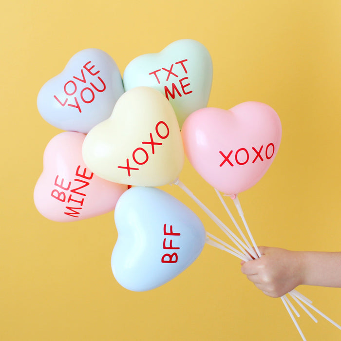 Conversation Heart Balloon Favor Kit