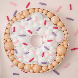 Donut Balloon Mosaic with Sprinkle Balloon background