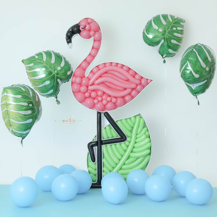 Flamingo BALLOON MOSAIC digital design template