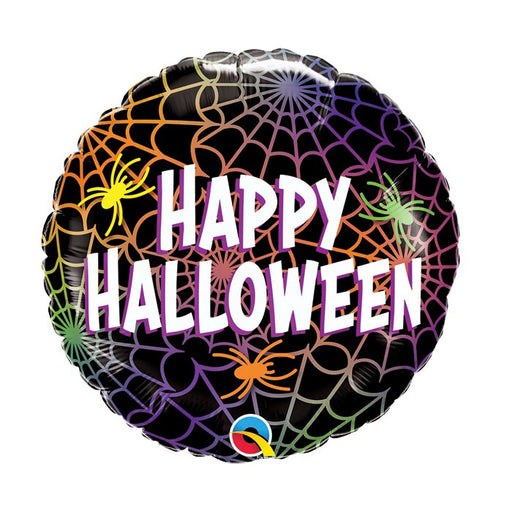 Halloween Spiders and Webs Foil Balloon - Single Balloon