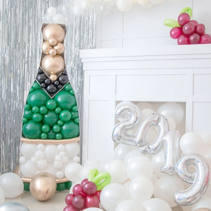 Champagne Bottle BALLOON MOSAIC digital design template