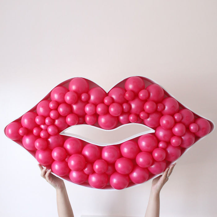 Lips BALLOON MOSAIC digital design template
