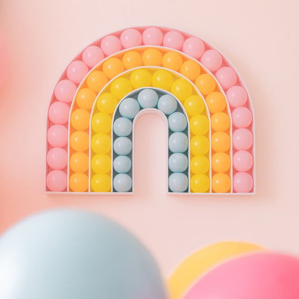 Modern Rainbow Balloon Mosaic design template