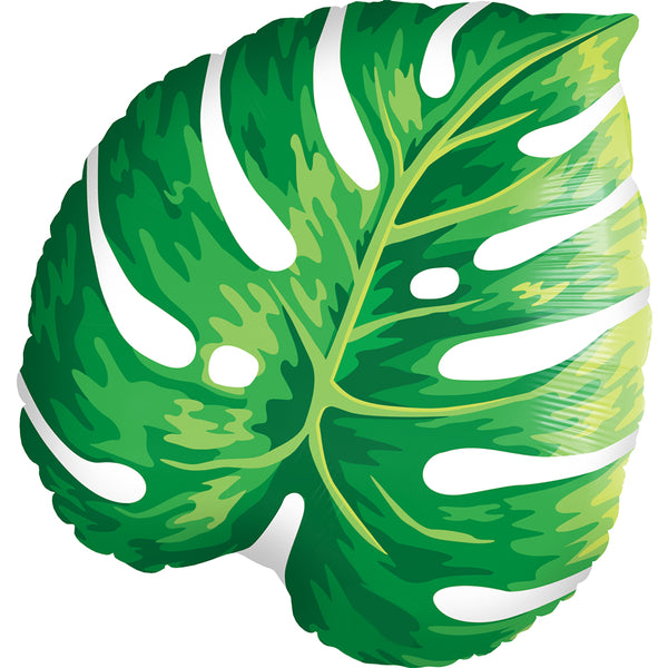 Monstera Leaf Foil Balloon - Single Balloon