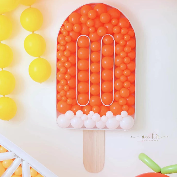 Popsicle BALLOON MOSAIC digital design template