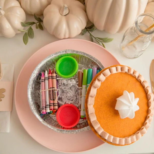 Thanksgiving Felt Pumpkin Pie - For the Kids Table - The Creative Heart Studio