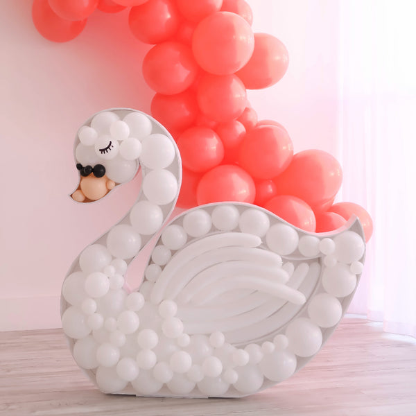 Swan BALLOON MOSAIC™ digital design template