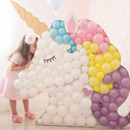 Unicorn BALLOON MOSAIC digital design template
