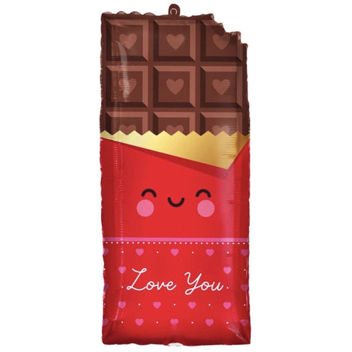 Love You Chocolate Bar Foil Balloon