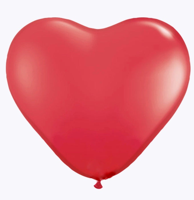 "11"" Red Latex Heart Balloons- Pack of 6"