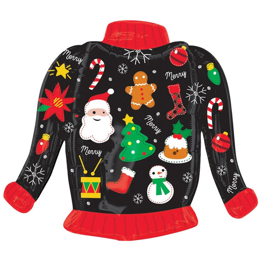 31 inch Ugly Christmas Sweater Foil Balloon