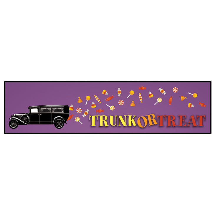 "Trunk Or Treat Banner 24""x96"""