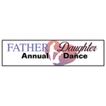 "Father Daughter Dance Banner 24""x96"""