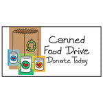 "Canned Food Drive Banner 36""x72"""
